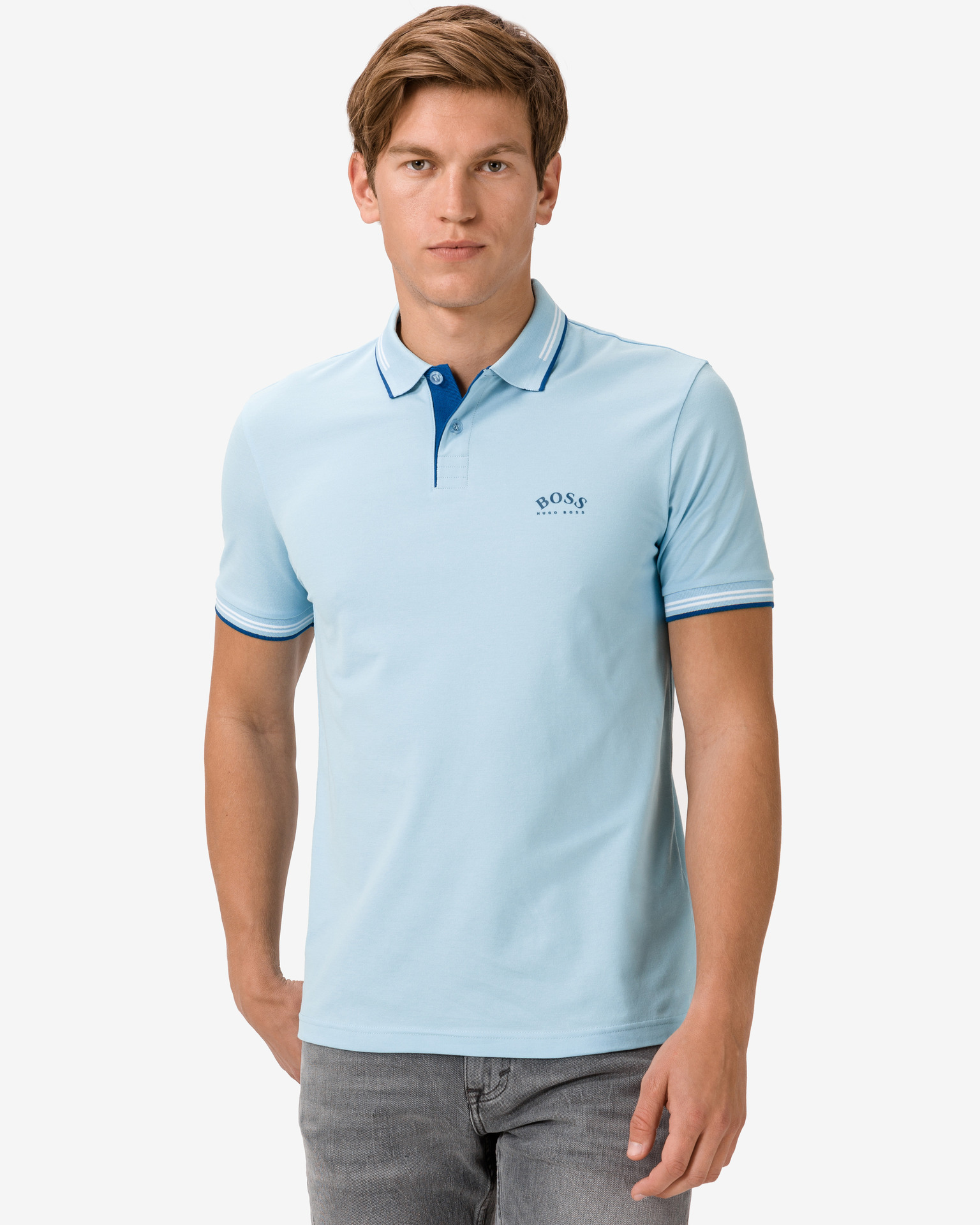 Paul Curved Polo triko BOSS