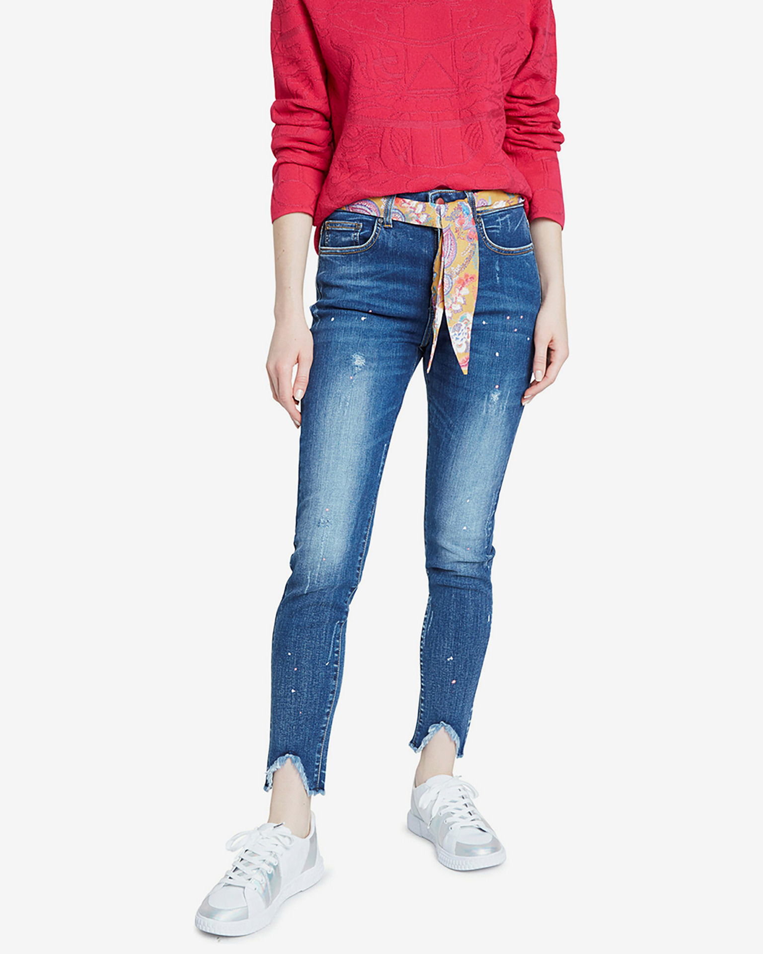 Denim Rainbow Jeans Desigual