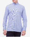 Hackett London Gingham Placed Stripe Hemd