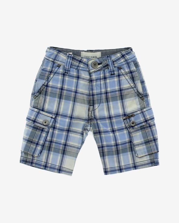 Diesel Kinder Shorts Blau Weiß