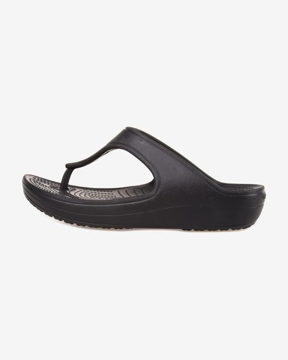 Crocs Sloane Platform Flip-Flops Schwarz