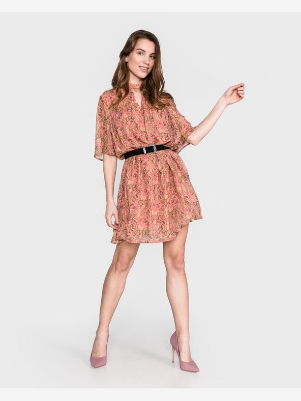 Vila Femme Sukienka Różowy Beżowy