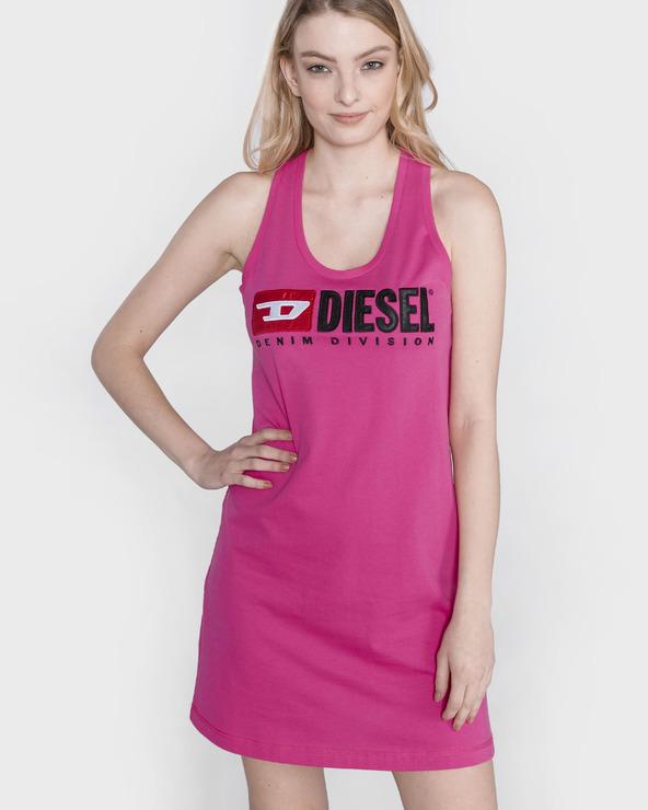 Diesel T-Silk Sukienka Różowy
