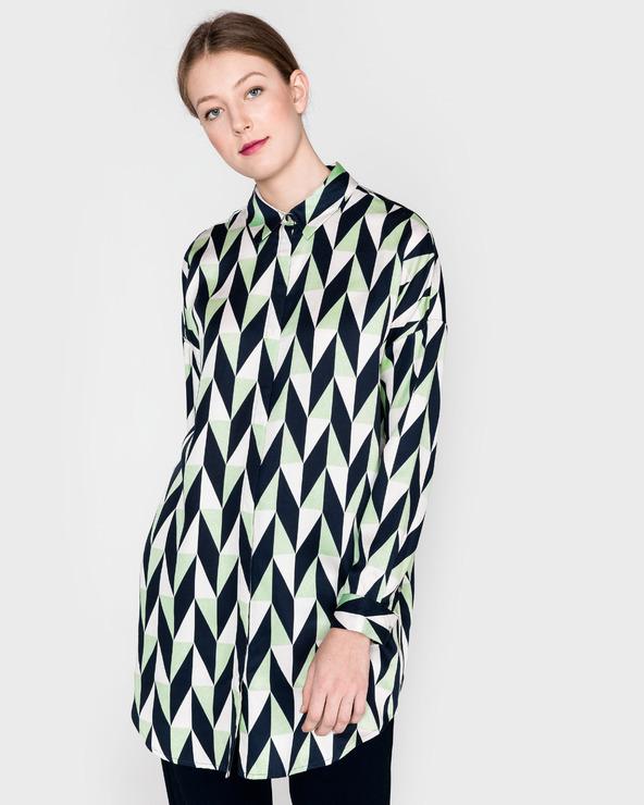 SELECTED Rikki Koszula Niebieski Zielony Biały