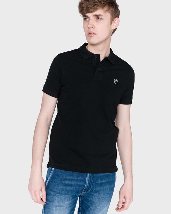 Replay Polo Koszulka Czarny