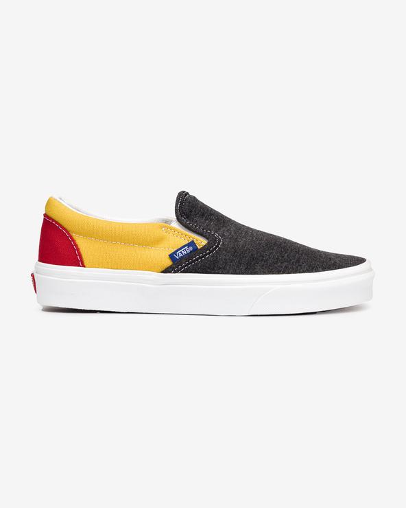 Vans Classic Slip On Schwarz Gelb mehrfarben